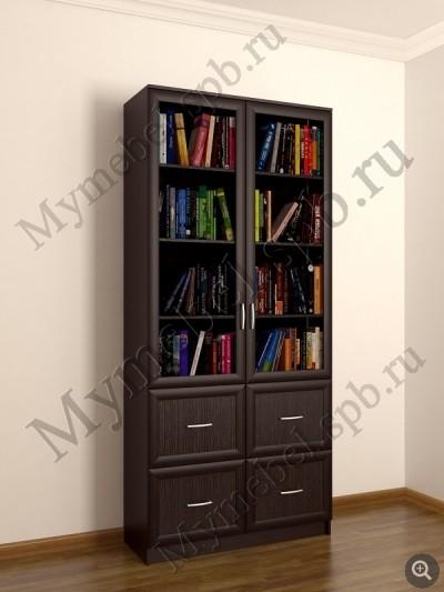 Шкаф книжный двухстворчатый с четырмя ящиками (1) / санкт-пе.