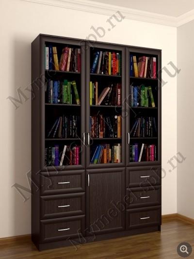 Книжный шкаф трехстворчатый шесть ящиков (1) / санкт-петербу.